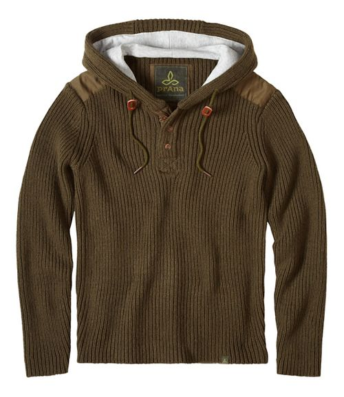 prAna Hooded Henley Sweater Half-Zips & Hoodies Non-Technical Tops - Blue XL