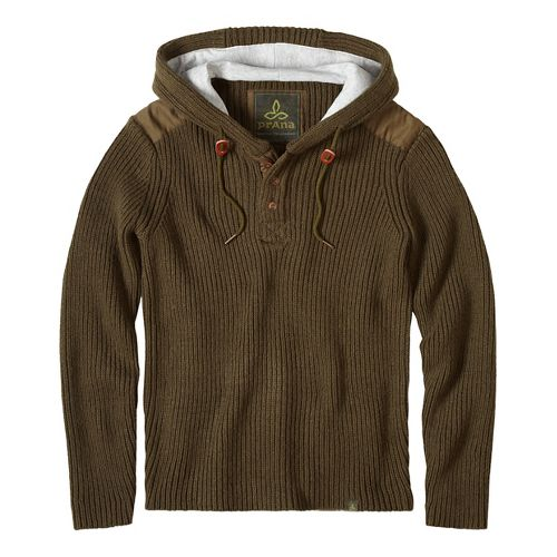 prAna Hooded Henley Sweater Half-Zips & Hoodies Non-Technical Tops - Green/Green S