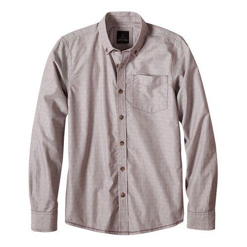 Mens prAna Reinhold Long Sleeve Jackets - Purple L