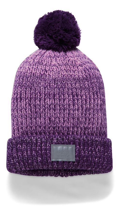 Under Armour Girls Shimmer Pom Beanie Headwear - Rose/Indugle