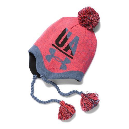 Under Armour Girls Tassel Beanie Headwear - Pink Chroma/Black