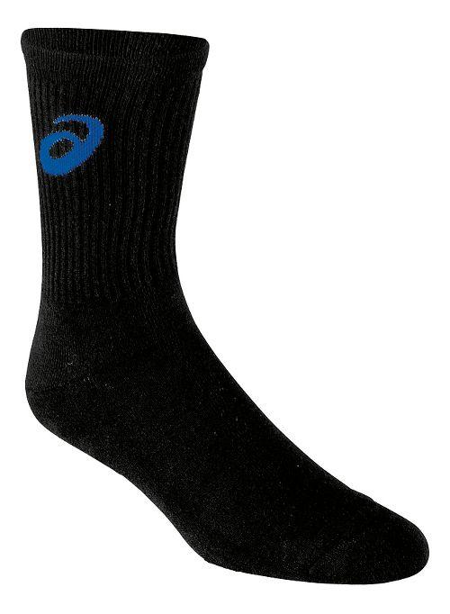 ASICS Team Crew Sock 3 Pack Socks - Black/Royal XL