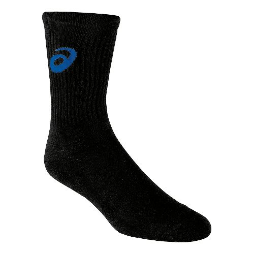 ASICS Team Crew Sock 3 Pack Socks - Black/Royal L