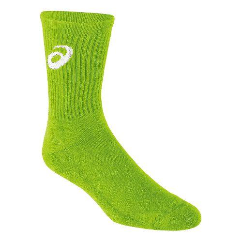 ASICS Team Crew Sock 3 Pack Socks - Neon Green XL