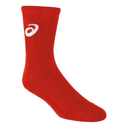 ASICS Team Crew Sock 3 Pack Socks - Red L