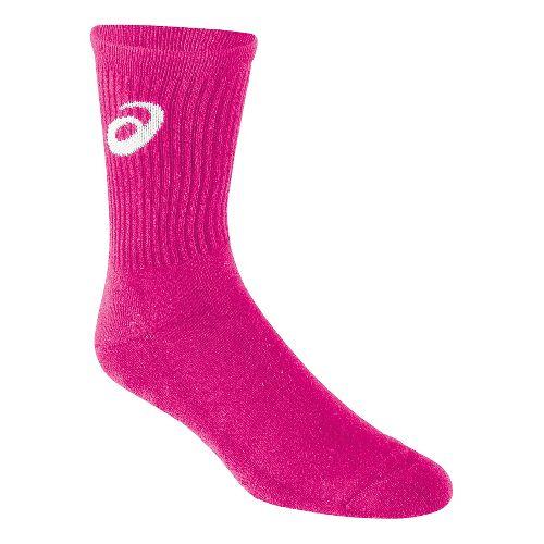 ASICS Team Crew Sock 3 Pack Socks - Pink Glo M