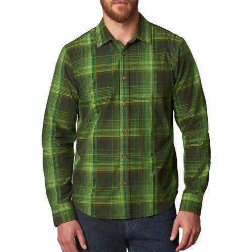 Mens prAna Rennin Long Sleeve Non-Technical Tops - Green S