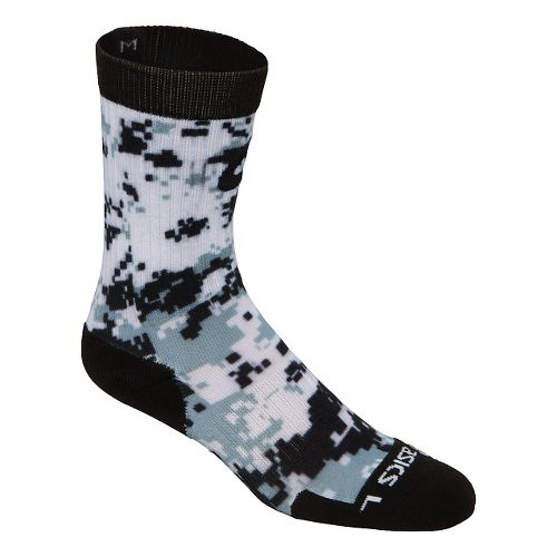 ASICS TM Camo Crew 3 Pack Socks - Black/Steel Grey S