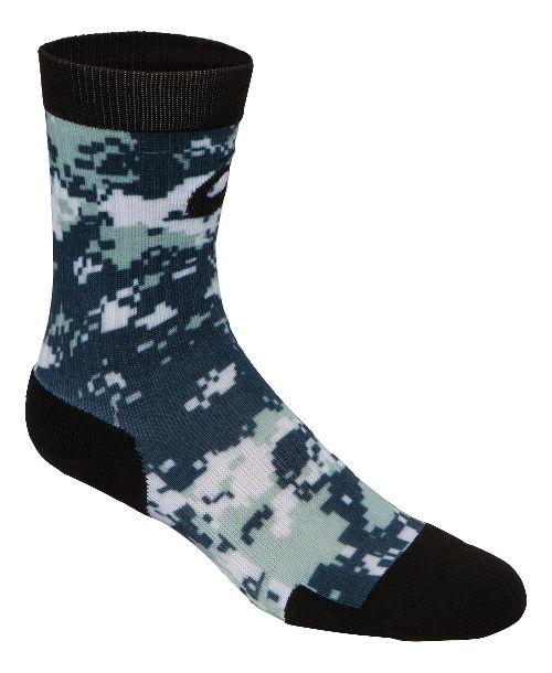 ASICS TM Camo Crew 3 Pack Socks - Black/Red XL