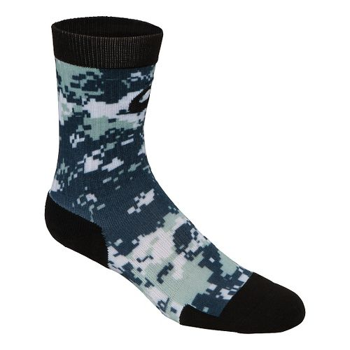 ASICS TM Camo Crew 3 Pack Socks - Navy/Steel Grey L
