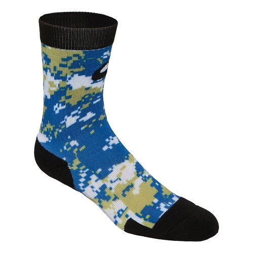 ASICS TM Camo Crew 3 Pack Socks - Navy/Gold L