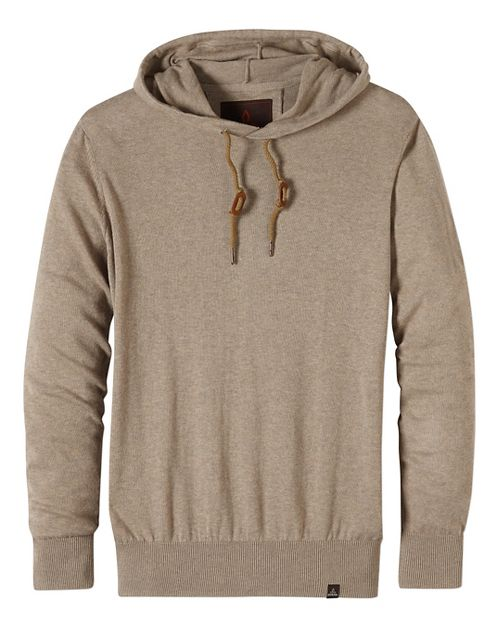 Mens prAna Throw-On Hooded Sweater Long Sleeve Non-Technical Tops - Beige XXL
