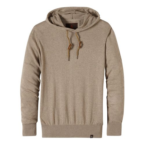 Mens prAna Throw-On Hooded Sweater Long Sleeve Non-Technical Tops - Beige XL
