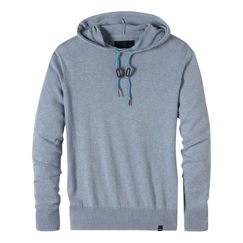 Mens prAna Throw-On Hooded Sweater Long Sleeve Non-Technical Tops - Blue M