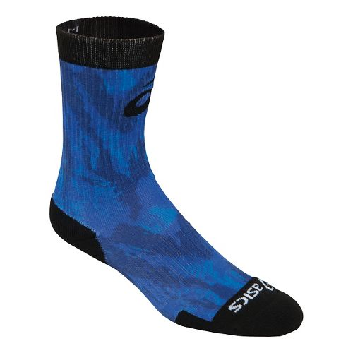 ASICS TM Multi Print Crew 3 Pack Socks - Blue XL
