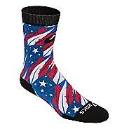 ASICS TM Multi Print Crew 3 Pack Socks - Flag Feather M