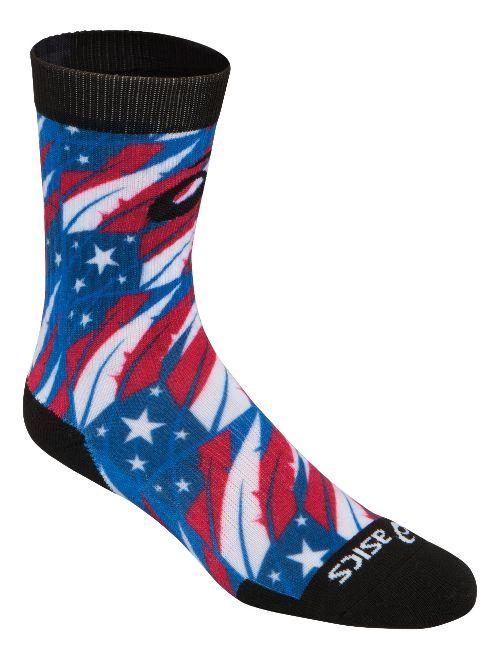 ASICS TM Multi Print Crew 3 Pack Socks - Flag Feather L