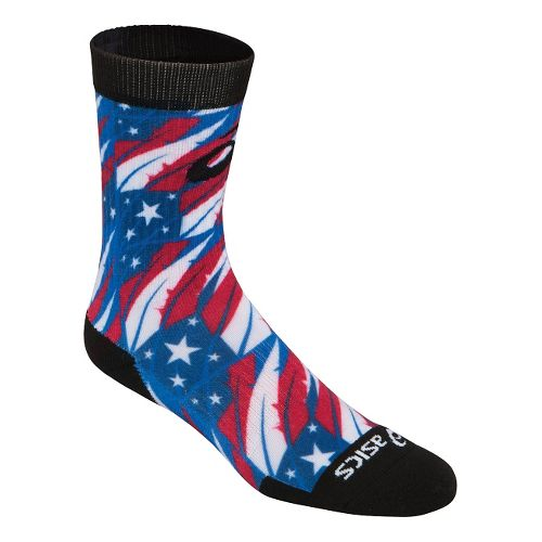 ASICS TM Multi Print Crew 3 Pack Socks - Flag Feather M