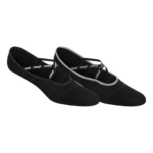 ASICS Well Balanced No-Slip Sock 6 Pack Socks - White/Light Grey M
