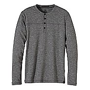 Mens prAna Zylo Henley Long Sleeve Non-Technical Tops