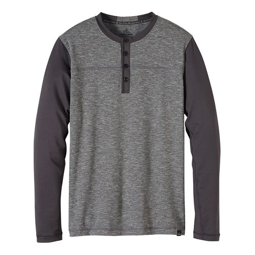 Mens prAna Zylo Henley Long Sleeve Non-Technical Tops - Miscellaneous XL