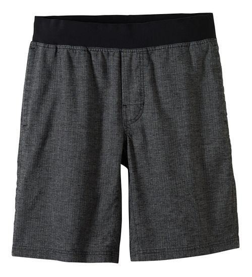 Mens prAna Vaha Lined Shorts - Black/Black M