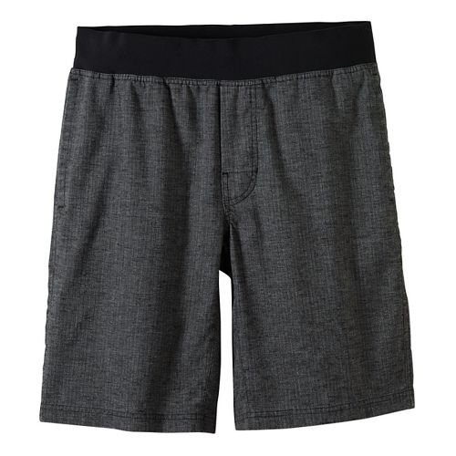 Mens prAna Vaha Lined Shorts - Black/Black M