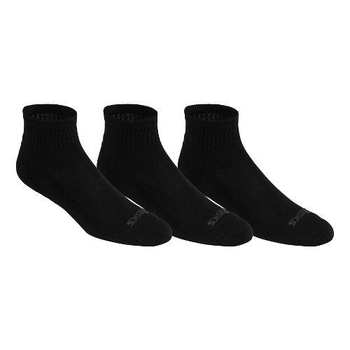 ASICS Cushion Quarter 9 Pack Socks - Black L