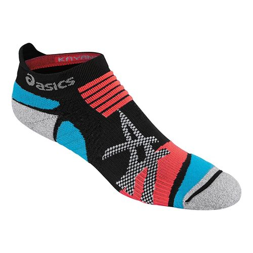 ASICS Kayano Single Tab 3 Pack Socks - Black/Atomic Blue S