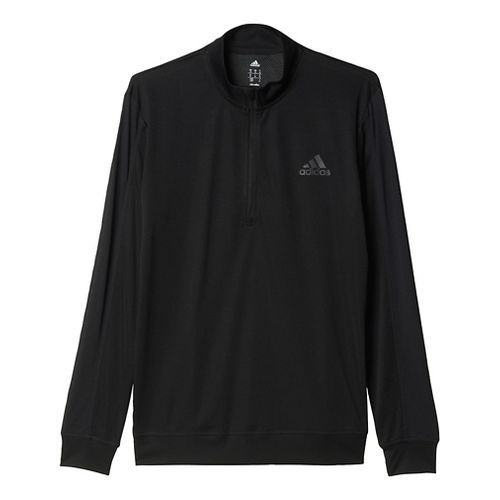 Mens Adidas ClimaCore Half-Zip Long Sleeve Technical Tops - Black L