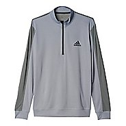 Mens Adidas ClimaCore Half-Zip Long Sleeve Technical Tops