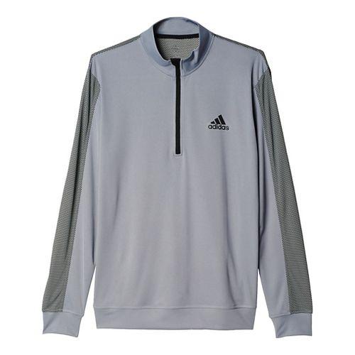 Mens Adidas ClimaCore Half-Zip Long Sleeve Technical Tops - Grey XL