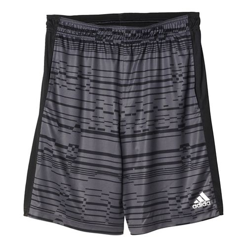 Mens Adidas ClimaCore Print Unlined Shorts - Grey/Black M