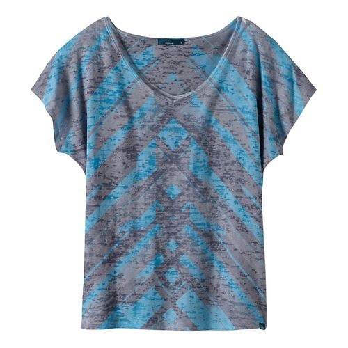 Womens prAna Tabitha Top Short Sleeve Non-Technical Tops - Grey S