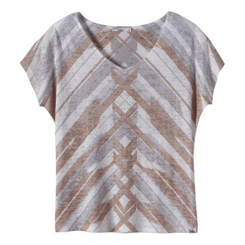 Womens prAna Tabitha Top Short Sleeve Non-Technical Tops - Beige L