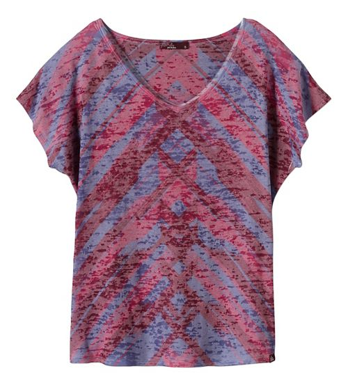 Womens prAna Tabitha Top Short Sleeve Non-Technical Tops - Purple S