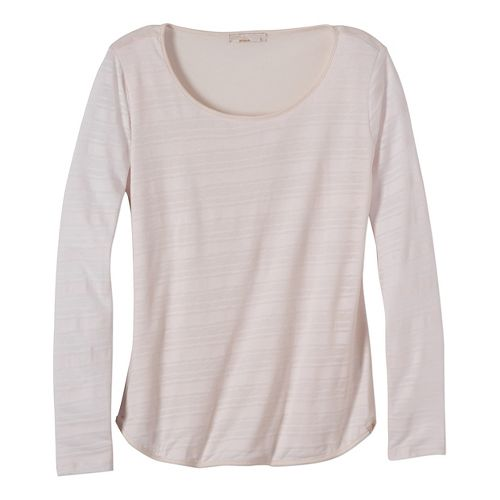 Womens prAna Anelia Long Sleeve Non-Technical Tops - White S