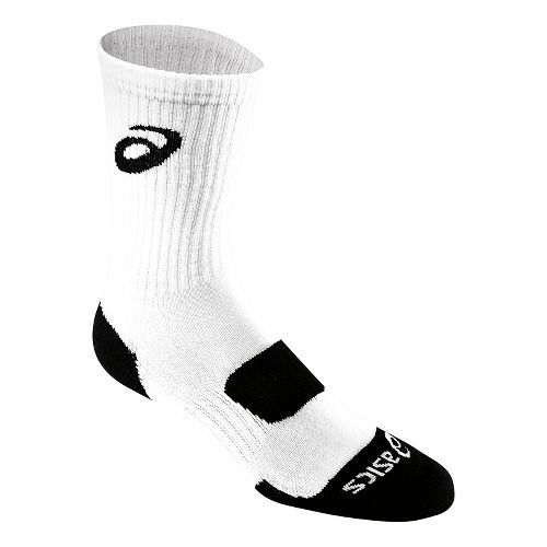 ASICS Team Performance Crew Sock 3 Pack Socks - White S