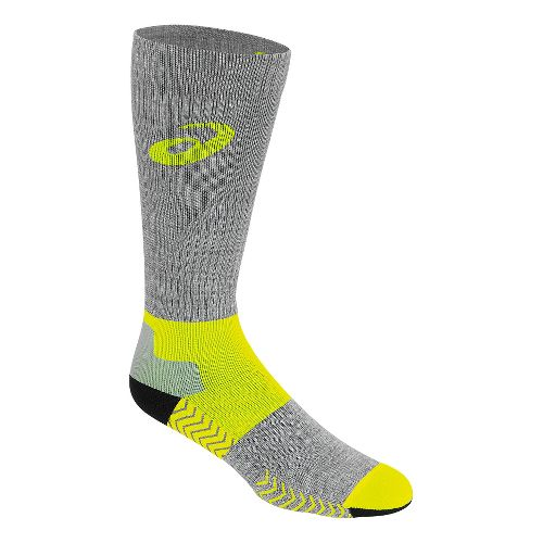 ASICS Compression Wool Knee High 3 Pack Socks - Safety Yellow M