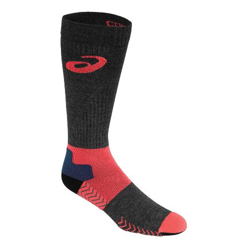 ASICS Compression Wool Knee High 3 Pack Socks - Fiery Flame S