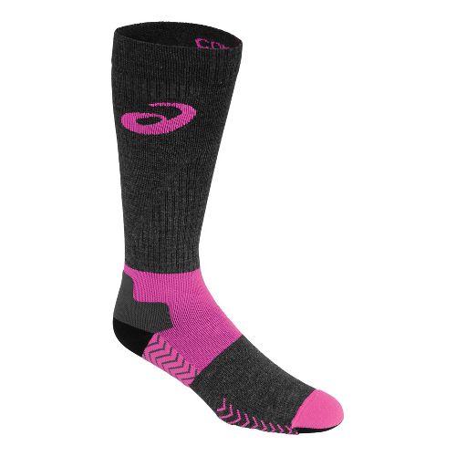 ASICS Compression Wool Knee High 3 Pack Socks - Knockout Pink S