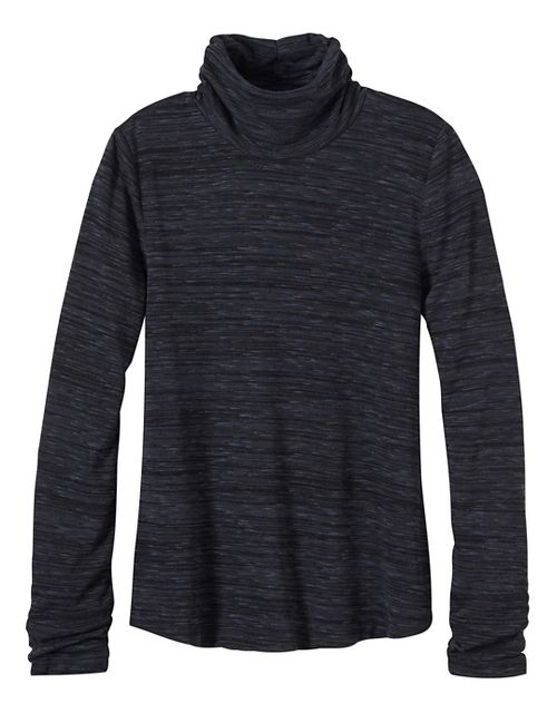 Womens prAna Annina Turtleneck Long Sleeve Non-Technical Tops - Grey XL