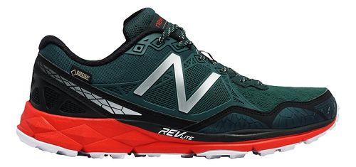 Mens New Balance 910v3 Gore-Tex Trail Running Shoe - Trek/Red 7.5