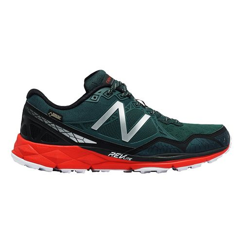 Mens New Balance 910v3 Gore-Tex Trail Running Shoe - Trek/Red 10.5