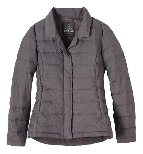 Womens prAna Dawn Blazer Long Sleeve Jackets - Grey L