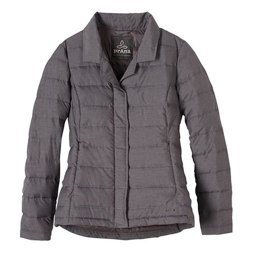 Womens prAna Dawn Blazer Long Sleeve Jackets - Grey M