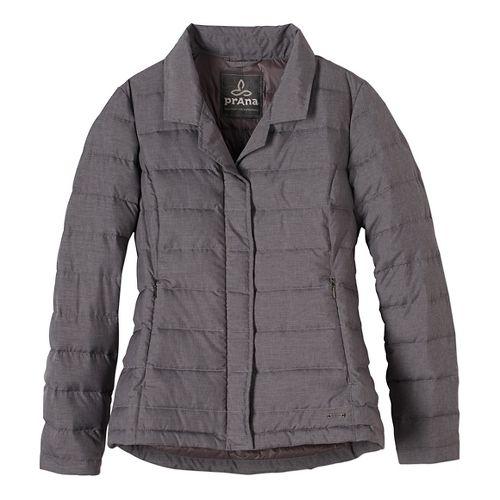 Womens prAna Dawn Blazer Long Sleeve Jackets - Grey XL