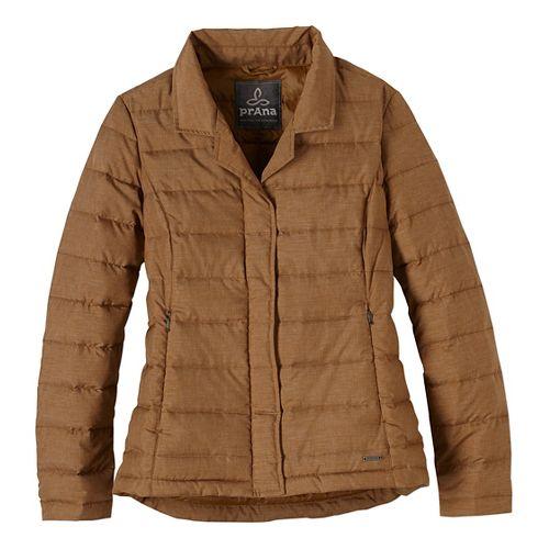 Womens prAna Dawn Blazer Long Sleeve Jackets - Brown XS