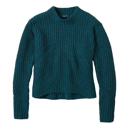 Womens prAna Cedric Sweater Long Sleeve Non-Technical Tops - Green XS