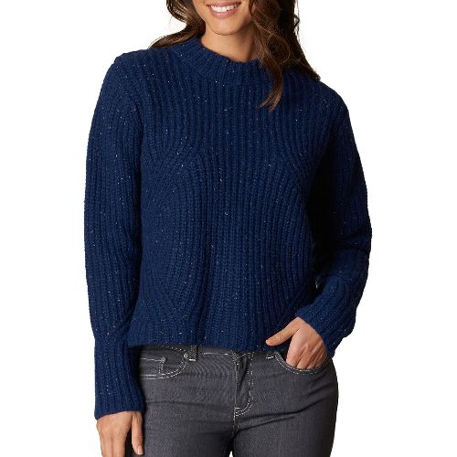 Womens prAna Cedric Sweater Long Sleeve Non-Technical Tops - Blue M